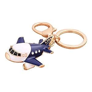 Llavero con forma de avión de Qinlee, estilo de diamantes de ...