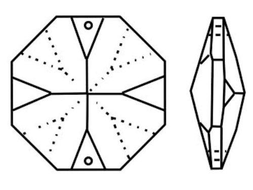 12x 6cm Kristall Kette Chrom ~ Oktagon /& Wiener Pendel 30/% PbO ~ Behang L/üster Kronleuchter