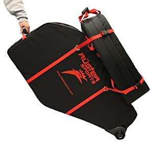 Ruster Sports Armored Hen House Bicycle Travel Case, Black/Red