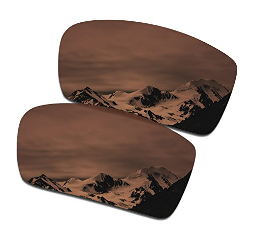 SmartVLT Men's Amber Brown Replacement Lenses for Oakley Crankshaft Sunglass by SmartVLT