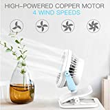 Battery Operated Clip on Fan Mini Desk Fan with 4