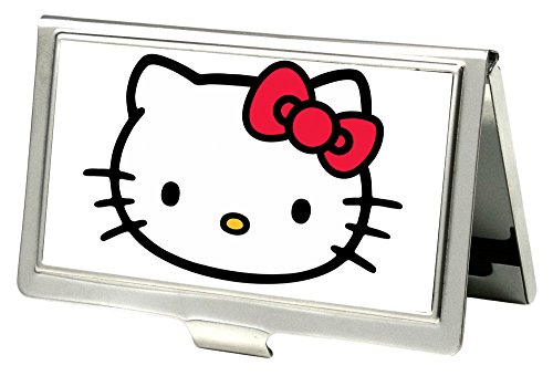 Buckle-Down Business Card Holder - Hello Kitty Face White - Small]()