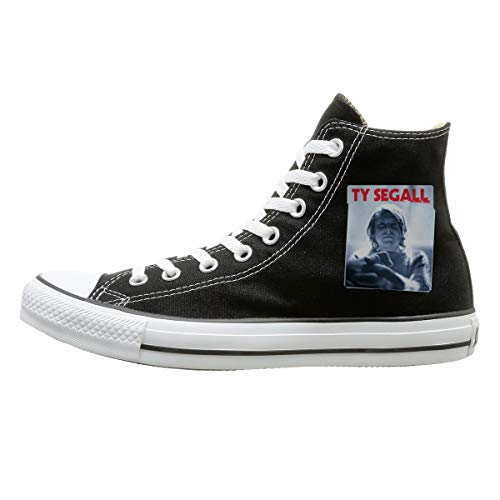 (High-top Canvas Shoes Sneaker Ty Singer Segall Casual Walking Shoes for Mens Womens Black)