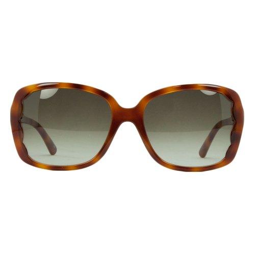 bf903304bba8 50%OFF Valentino V 608S 725 Blonde Havana Rectangular Scalopped Sunglasses