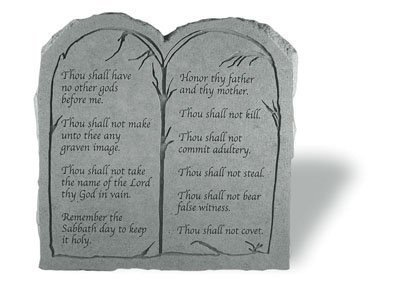 Kay Berry- Inc. 20311 The Ten Commandments - Tablet Memorial - 11 Inches x 11.25 Inches by Kay Berry Inc. ()