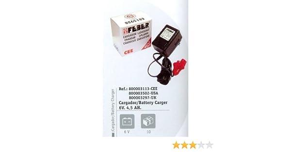 FEBER - Cargador Batería 6V - 4,5 AH
