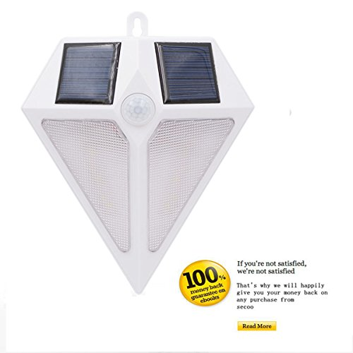 Solar Motion Lights Outdoor, Wireless 6 LED Motion Sensor Solar Lights with Wide Angle, Easy Install Waterproof Security Lights Super Bright Garden Lights for Front Door, Back Yard, Driveway, Garage