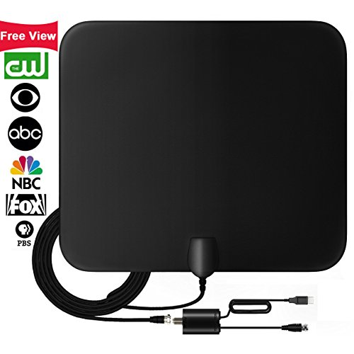 TV Antenna, Free view for Life Local Channels?UPGRADED 2018 VERSION?50 Miles Range HD Digital TV Antenna with Detachable Amplifier Signal Booster Indoor Broadcast for All Types of Smart Television
