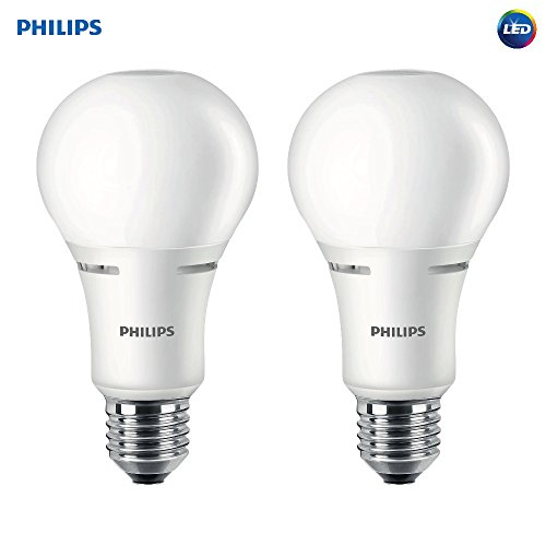 Philips LED 472464 50-100-150 Watt Equivalent 3-Way Frosted A21 Energy Star Certified LED Light Bulb in Frustration-Free-Packaging (2 Pack), Soft White, 2 Piece