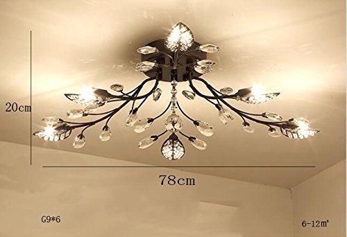 Plafoniere Soffitto Moderno : Moderno cristallo lampada da soffitto a led foglia filo