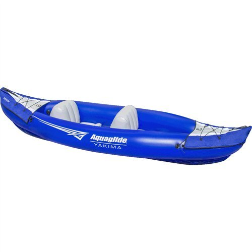 Aquaglide 58-5215031 Yakima 10'2'' 2 Person Inflatable Kayak w/ Drains by Aquaglide