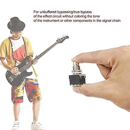 1 pc 3PDT - Interruptor de pie para guitarra, efecto de pedal