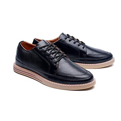 Sport Chaussures Chaussures Planche Noir Jeunes Noir Chaussures d'automne Size CN44 Couleur de pour Hommes De UK9 EU43 YiWu Noir Cuir Chaussures Loisirs en wnSZv4O
