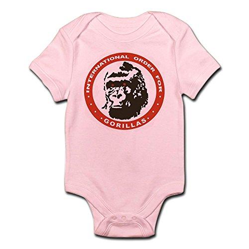 CafePress - Real Genius Intl Ordr for Gorillas Infant Bodysuit - Cute Infant Bodysuit Baby Romper (Pink Gorilla Suit)