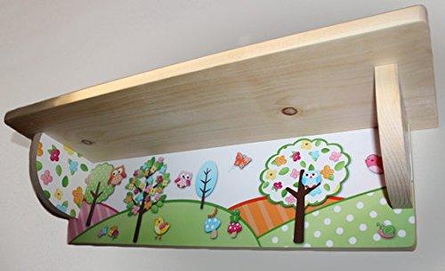Owls Love Birdies Wood Bookshelf Girls Nature Kids Bedroom Baby Nursery SHL001