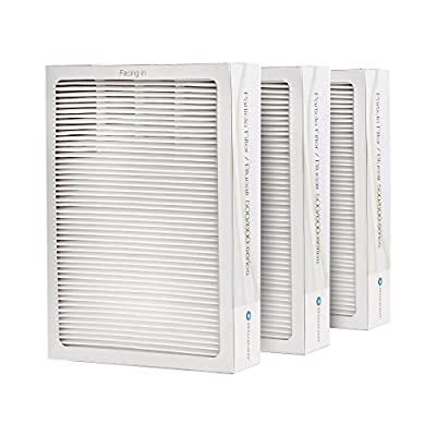 Blueair 501FILT/3PK Classic Replacement Filter, 500/600 Series Genuine Particle Filter, Pollen, Dust, Removal 501, 503, 510, 550E, 555EB, 601, 603, 650E, 505, 605