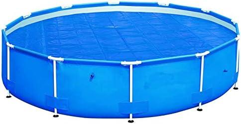 HAFIX Cubierta de Lona Solar Cubierta de Lona para Piscina Cubierta Solar Cubierta de Piscina en Azul (para Ø 244 cm): Amazon.es: Jardín
