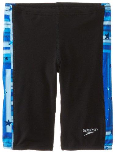 Speedo Big Boys' Star Mania Youth Jammer Swimsuit, Blue, 22