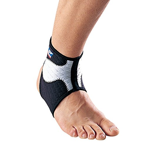 - LP SUPPORT 504 - Ankle Support- Ankle Brace for Sport - Relief for Ankle Sprain and Painful Joints - Breathable Material for Sweat Dissipation- Compression for Ankle (M)