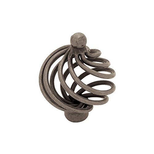 Liberty PN9012-AP-C 40mm Large Wire Swirl Kitchen Cabinet Hardware Knob with Ball Top