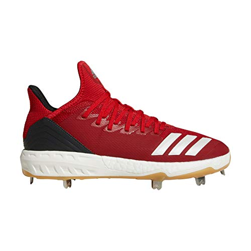 Image of the adidas Icon 4 Cleat Men's Baseball 6.5 Power Red-Cloud White-Carbon