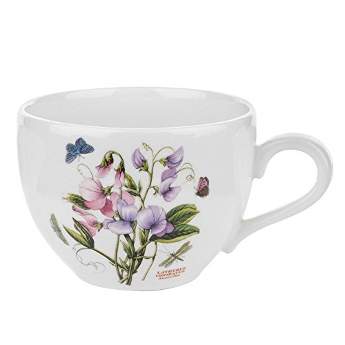 Portmeirion 664357 Botanic Garden Jumbo Cup, 20Oz, 20 oz, White (Porcelain Jumbo Cup)