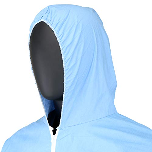 West Chester 3109/XL Posi FR Coverall Hood, Boot, Elastic Wrist & Ankle, XL, Blue (Box of 25) by West Chester (Image #7)