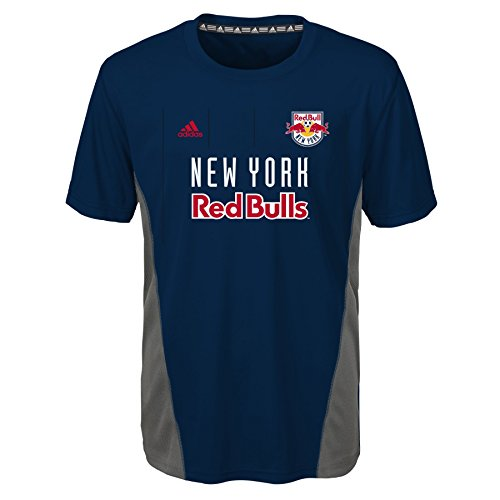 MLS New York Red Bulls Boys Short Sleeve Fan Nation Tee, Collegiate Navy, Medium (5-6)