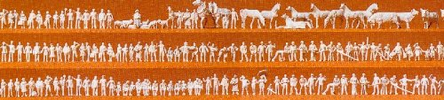 Preiser 88500 Unpainted Figures/Animals (160)