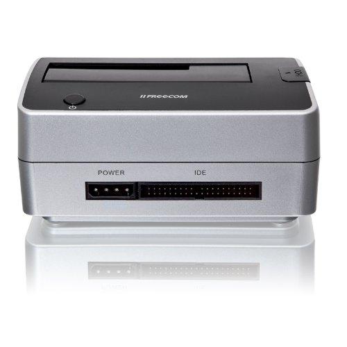 Freecom Dock Pro - Base de conexió n para disco duro (2.5', 3.5', SATA, USB 2.0), plateado 3.5 33708