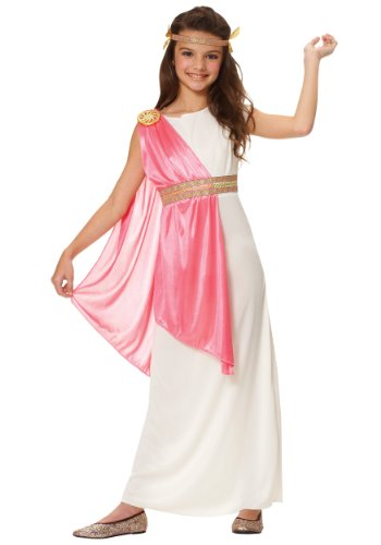 Costume Culture Girl's Roman Empress Costume, Ivory, (Roman Empress Halloween Costume)