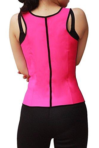 PiterNace Sexy;cozy Women Latex Waist Cincher Shapewear Trainer Vest Zipper S Pink Pink-ZipperSmall/30 - Gollum Latex