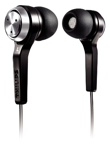 Philips In Ear Headphones SHE8500  Black    Ergonomic Earbuds with Noise Isolation