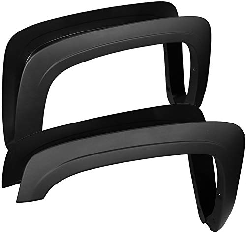 Carpartsinnovate For 07-13 Chevy Silverado 1500 Fleetside Long Bed OE Style Smooth Fender Flares