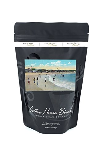 Rockport, Massachusetts - View of Long Beach and Cape Ann (8oz Whole Bean Small Batch Artisan Coffee - Bold & Strong Medium Dark Roast w/Artwork)