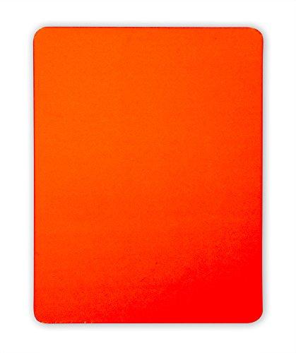 Schiedsrichter Disziplinarkarte (Rote Karte) für Handball, Fußball, Volleyball, 9 x 12 cm, PVC, abgerundete Ecken, neonfarben gem. Reglement und ohne Logo / Branding