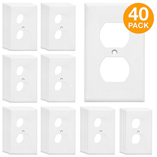 - ENERLITES Duplex Receptacle Outlet Wall Plate, Size 1-Gang 4.50