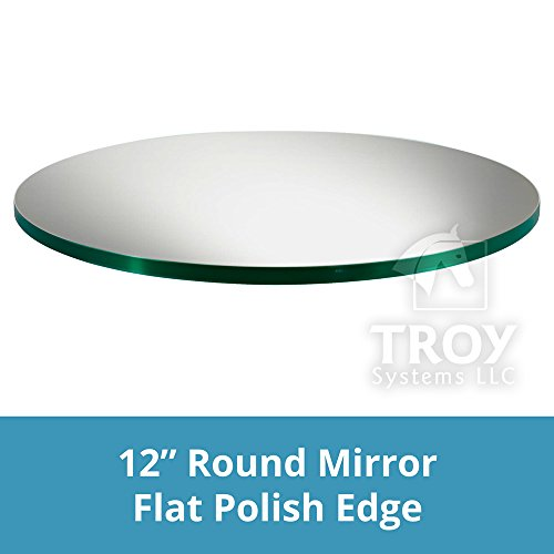 (TroySys Glass Table Mirrors for Wedding and Party Centerpieces, Round, 12