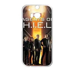 HTC One M8 Cell Phone Case White s.h.i.e.l.d Phone cover SE8573348
