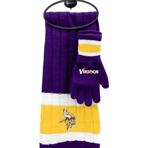 NFL Minnesota Vikings Scarf & Glove Gift Set