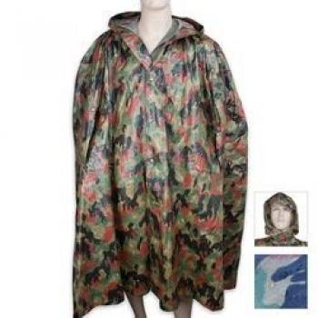 BudK Swiss Camo Wet Weather Poncho, Outdoor Stuffs