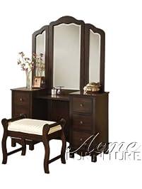 bedroom vanity mirror. ACME Furniture Jasper Espresso Bedroom Vanity and Stool  Mirror Sold Separately Vanities Benches Amazon com