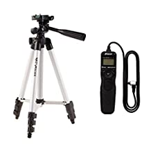 MonkeyJack RS-80N3 Intervalometer Remote Control Timer Shutter for Canon +Camera Tripod