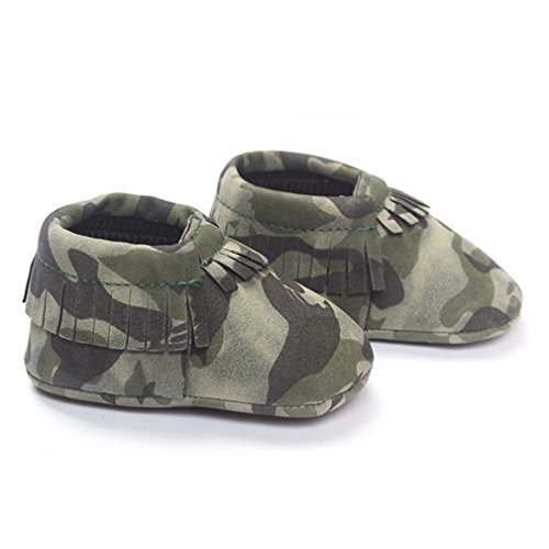 TotMart Kids Child Unisex Baby Boy Girl Pre-Walker Leather Tassel Fringe Moccasin Slip-On Shoes