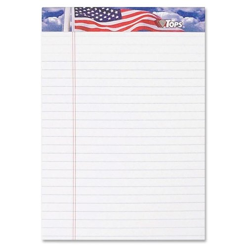 Wholesale CASE of 25 - Tops American Pride Jr. Legal Writing Tablet-Writing Tablets,Jr. Lgl Ruled,5''x8'',50 Sht/PD,3/PK,WE by TOP