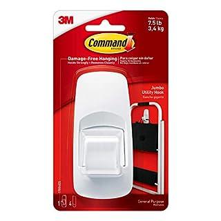 Command Jumbo Utility Hook, White, 1-Hook (17004ES), Organize your dorm