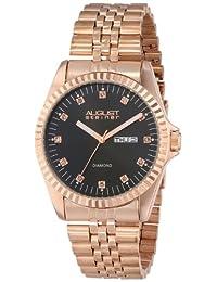 August Steiner Men's AS8047RG Diamond Stainless Steel Bracelet Watch