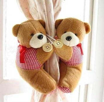 Schön Teddybär Raffhalter, Für Kinderzimmer Gardinen, Braun, 2 Stück