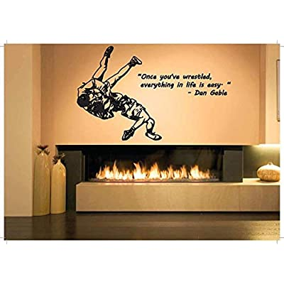 pmxkbzzr Wrestling Wall Decal Wrestling Decals Wrestling Quotes Decals WWE Wall Decals Vinyl Sticker Room Decal: Home & Kitchen