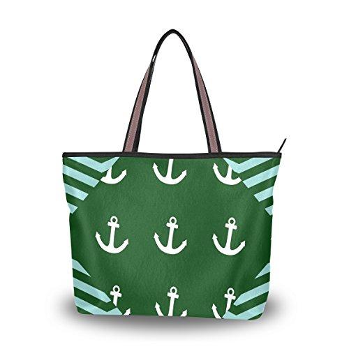 Ingbags Fashion Large Tote Shoulder Bag America Anchor Pattern Women Ladies Handbag